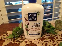 2 KISS MY FACE  TROPICAL COCONUT BODY LOTION WITH PUMP 16 fl