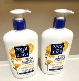 2 New KISS MY FACE Honey Calendula Body Lotion 16 oz Pump OU