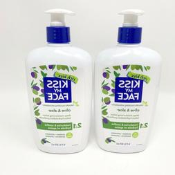 2 - KISS MY FACE Olive & Aloe Deep Moisturizing Lotion 16 oz