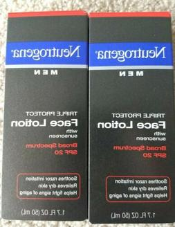 2 Pack Neutrogena Men Triple Protect Face Lotion With Sunscr