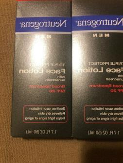 2pack Neutrogena Men Triple Protect Face Lotion New Sunscree