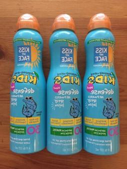 3 X Kiss My Face Kids Air Powered Spray Lotion SPF 30 Water