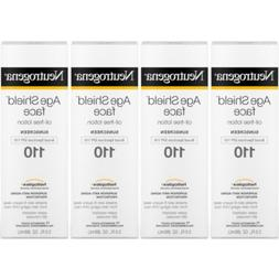 4 Pack Neutrogena Age Shield Face Oil Free Lotion Sunscreen