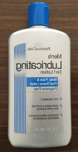 Personal Care Brand Men's Lubricating 3 in 1 Lotion NEW