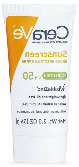 CeraVe Sunscreen Broad Spectrum SPF 50 Face Lotion 2 oz exp