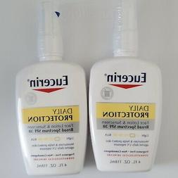 Eucerin Daily Protection Face Lotion SPF 30 4 oz lot of 2