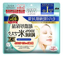Kose Pure Domestic Rice Face Mask EX 40 Sheets Clear Turn Ma