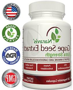 Naravis Grape Seed Extract - 400 mg - 120 Veggie Capsules -