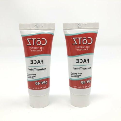 2x cotz spf 40 natural tinted face