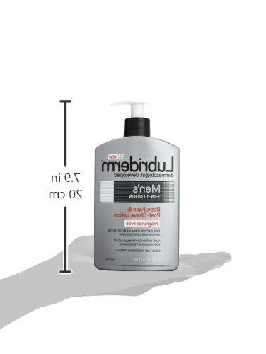 Lubriderm Men's Lotion Enriched Soothing Aloe for Body and Face, Moisturizer, oz