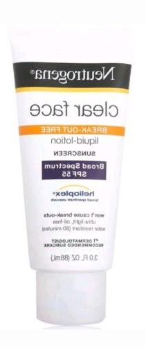 Neutrogena Clear Face Lotion Broad SPF 55