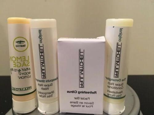 Paul Mitchell Travel Shampoo, Conditioner, Body Lotion And F