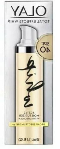 🌞OLAY TOTAL EFFECTS WHIP Active Moisturizer SPF 40 1.7 fl