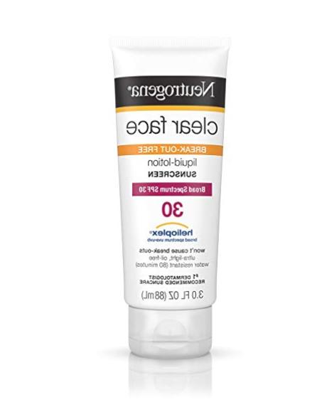 clear face liquid lotion sunscreen for acne