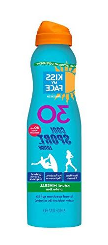 Kiss My Face Cool Sport Mineral Continuous Spray Sunscreen S