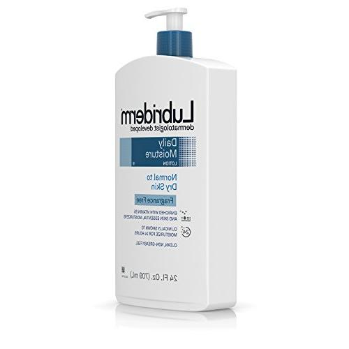 Lubriderm Moisture Unscented Body Lotion Vitamin B5 Normal to Skin, and Lotion. fl.