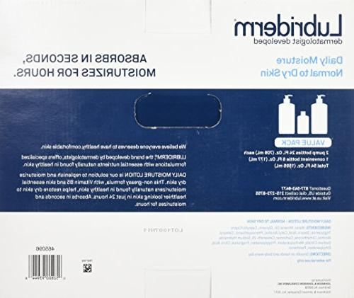 Lubriderm Daily Lotion Value 1/6oz = Total 54
