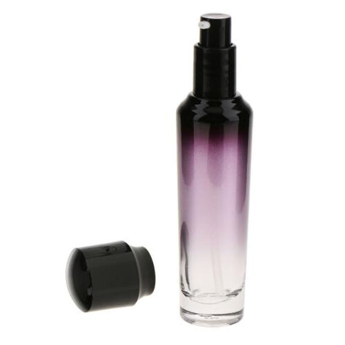 empty refillable glass lotion pump bottle cosmetic