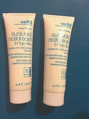 fabulous face lotion with spf 15 uva