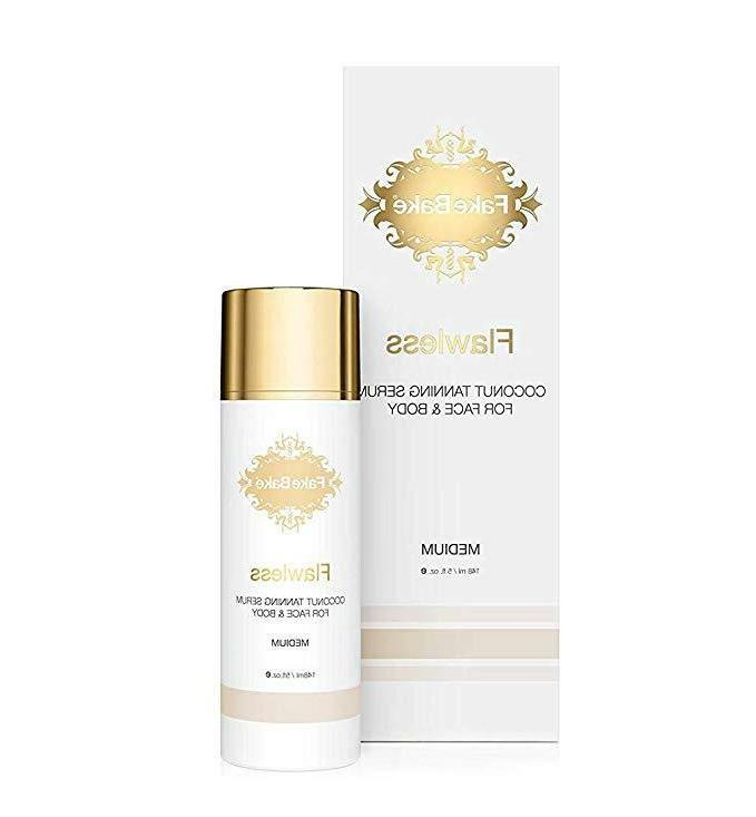 flawless coconut tanning serum for face