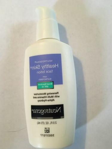 healthy skin face lotion with sunscreen spf