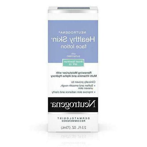 healthy skin face moisturizer lotion with spf