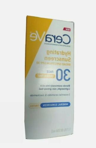 CeraVe Hydrating Sunscreen SPF 30 with Tint. Sun Protection