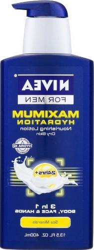 Nivea For Men Maxium Hydration Nourishing Lotion Sea Mineral