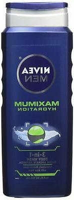Nivea For Men Maximum Hydration 3-in-1 Body Wash - 16.9 oz