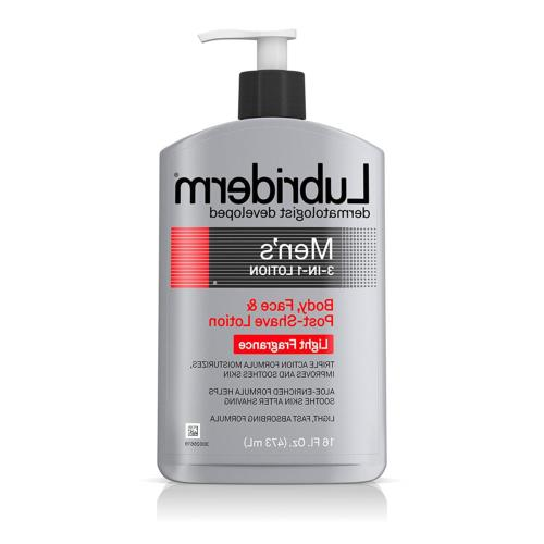 Lubriderm Men's 3-In-1 Lotion Enriched with Soothing Aloe fo