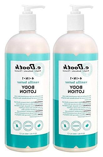 C. Booth 4-In-1 Multi-Action Body Lotion, Vanilla Butter, 32