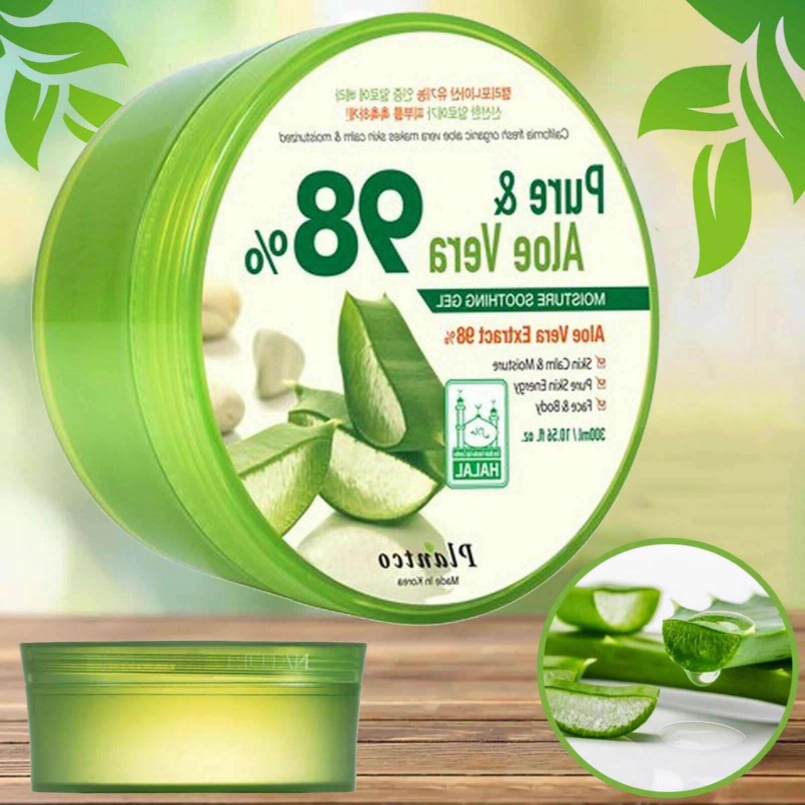 Pure Aloe Vera Gel 98% Moisturizer Soothing Body Face Hair S