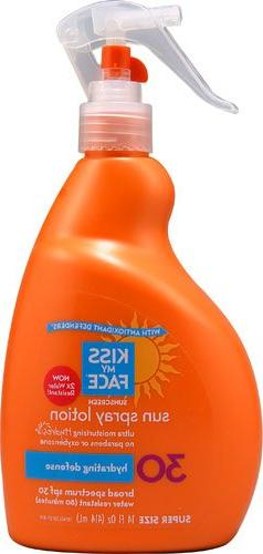 Kiss My Face Sunscreen Sun Spray Lotion SPF 30 -- 14 fl oz -