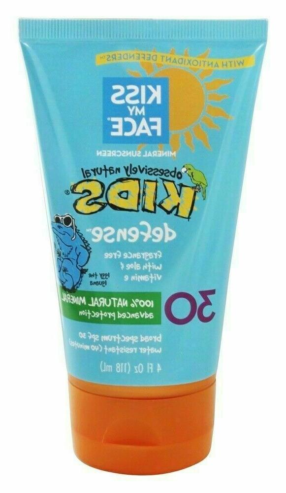 Kiss My Face SPF 30 Mineral Sunblock for Kids, 4 Ounce - 2 p