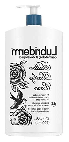 Lubriderm Tattoo Daily Care Lotion, Water-Based & Unscented