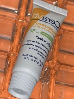 "Lightweight CeraVe Hydrating Sunscreen Face Lotion ""SPF 50"