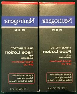 Lot of 2 NEUTROGENA Men Triple Protect Face Lotion w/Sunscre