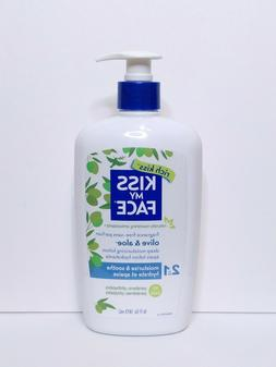 New KISS MY FACE Body Lotion Olive & Aloe - Fragrance Free,