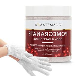 Pomegranate Body and Face Scrub with Exfoliating Gloves :: S
