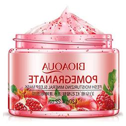 Women Girls Red Pomegranate Sleeping Mask Face Care Liquid C