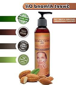 Sweet Almond Oil. 100% Pure - Cold Pressed - Paraben & Hexan