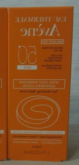 Avene Ultra-Light Hydrating Face Sunscreen Lotion SPF 50+ Fa